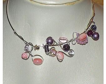 """Necklace """"Bouquet""""."""