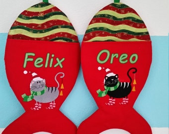 Christmas Personalized Cat Stocking