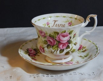 Royal Albert Flower of the Month Series, Roses for June