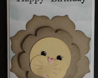 Sweet Lion Birthday Card