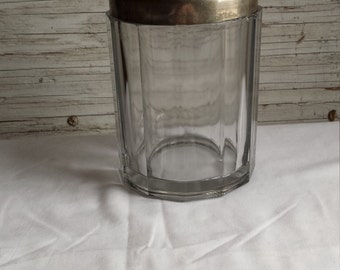 Vintage 1920's Heavy Glass and Metal Humidor
