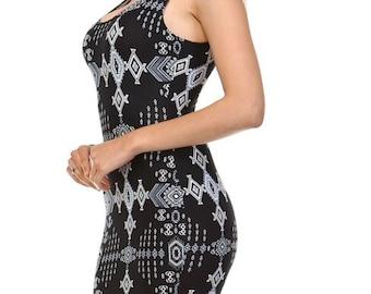 Sleeveless mini dress, multi color casual dress, tank dress, bodycon dress