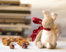 Teddy bunny Ben soft toy rabbits OOAK animals to order