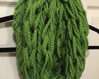 Green Infinity Scarf (thin)