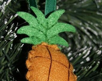 Christmas Ornament- Felt Ornament- Aloha Juicy Pineapple Felt Ornament