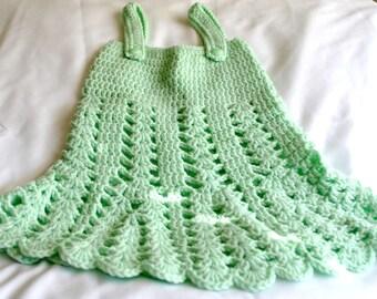 Crochet Baby Girl Tank Top Dress 0-3 Months