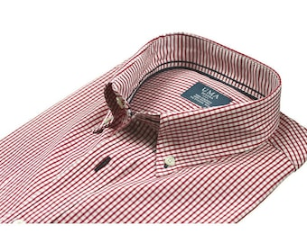Organic cotton red checked shirt