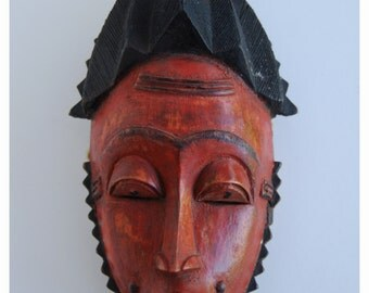 COLONICALLY IMPRESSED - Mask. Baule Tribe, Baoule, West African Tribal Art.
