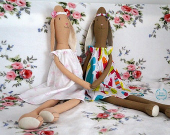 Big soft fabric Bunny Rabbit / stuffed toy tilda