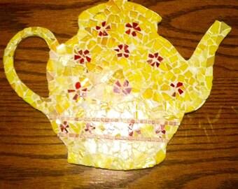 Mosaic Teapot wall decor