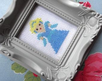 Cinderella Framed Cross Stitch