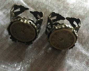 Brass steampunk style clock ring