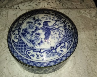 Blue covered bowl  AndreA by Sadek
