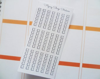 Mini Flag Checklist Planner Stickers - DOODLE