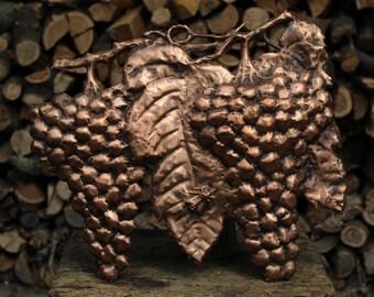 Grape fruit animals nature wall copper Hornet handmade