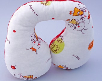 Travel neck pillow, car seat head support, head support pillow for baby, neck pillow, toddlers travel pillow, kids gift, babies gift