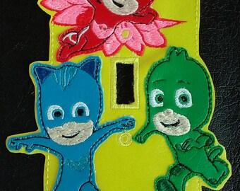 Bedtime Heros PJ mask inspired light switch plate