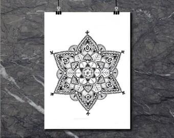 Regal Mandala - Art Print of original artworks