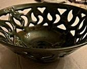 Cut out bowl on Oribe green
