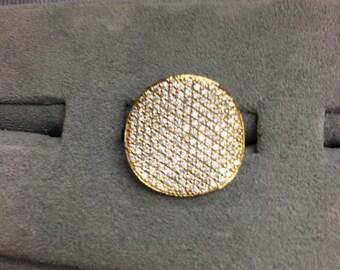 Pave Diamond Wavy Chip Ring