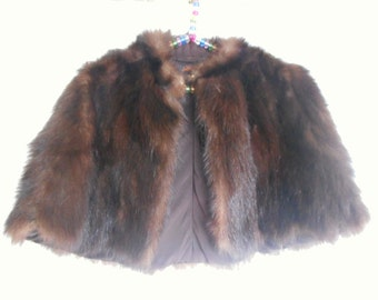 Short Cape in mink 1940-1950