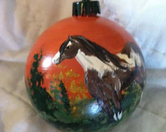 Hand Painted Christmas Ornament (custom made)