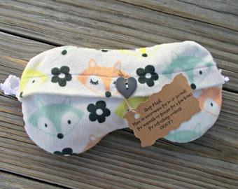 Lavender Flax seed- Eye Mask- Sleep Mask- Lavender Eye Pillow-Lavender Eye Mask- Fox Head- Washable Cover