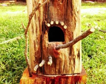 Eucalyptus Log Birdhouse