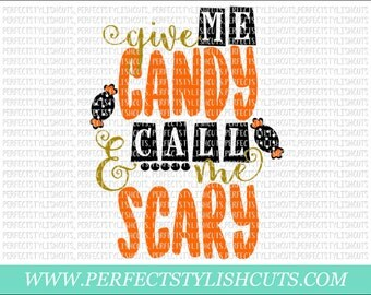 Give Me Candy SVG, DXF, EPS, png Files for Cutting Machines Cameo or Cricut - Fall Svg, Halloween Svg, Pumpkin Svg, Candy Corn Svg