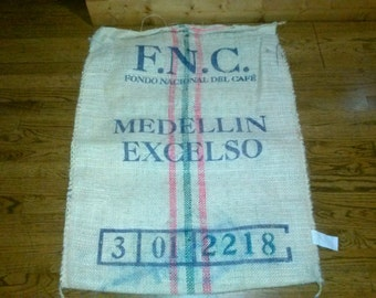 Coffee burlap sack Vintage!