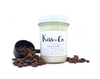 Fresh Coffee Soy Candle - 8oz Hand Poured