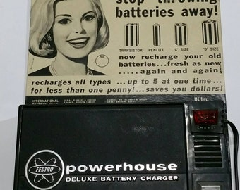 Vintage Powerhouse Control-O-Matic Deluxe Battery Charger