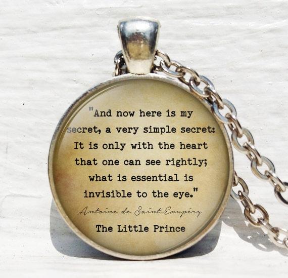 Here Is My Secret Antoine De Saint Exupery: The Little Prince 'Here Is My Secret' By ThePendantArtDesign