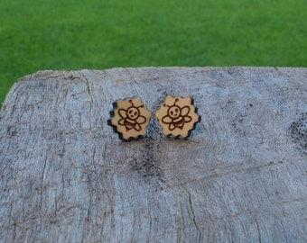 Bee Timber Earrings