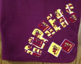 Mn Gophers Fleece Throw - Burgandy Blanket  (MNGPHR/BGFC-BL)