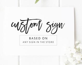 Custom Printable Wedding Sign , Printable Sign , Custom Sign , Printable Wedding Sign , DIY Wedding Sign