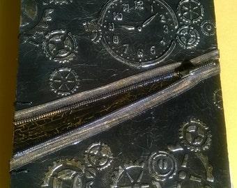 """A4 Handmade Journal, """"Gears"""""""