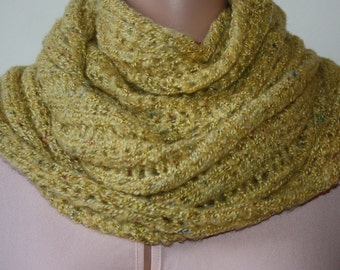 Yellow Winter Infinity Scarf Wool Scarf Fashion Scarf Cowl Scarf Knitted Infinity Scarf Women Scarves Soft Knit Scarf