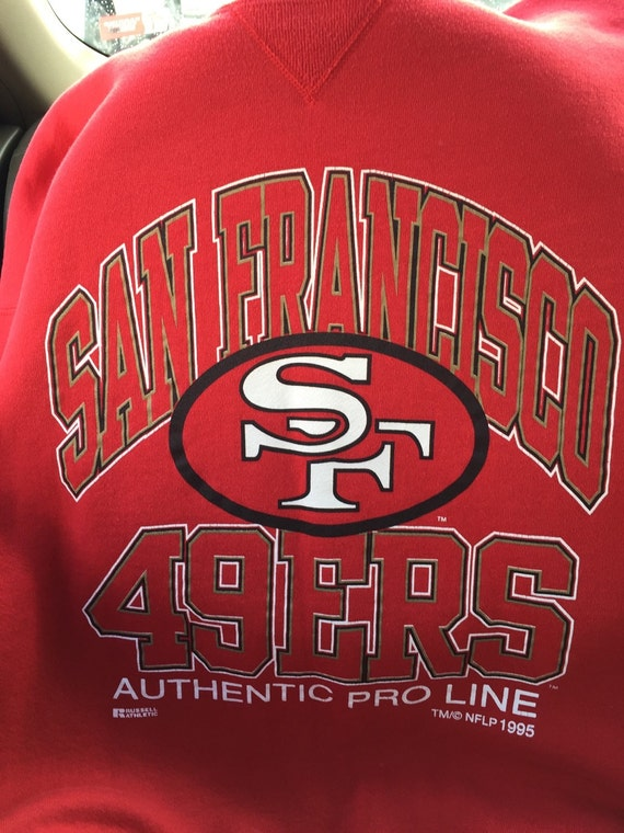 Vintage 1995 49ers Russell Athletic pullover-XL