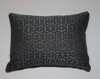 Urban Chic 12x16 Steel Blue Brown Gray Decorative Throw Lumbar Pillow