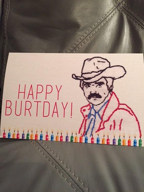 Burt Reynolds Birthday card – Burt Reynolds Birthday Card
