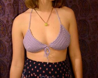 Lilac crochet bikini