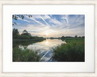 Sky Painting Calm Sunset Reflection Framed Photographic Print