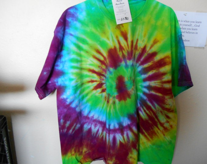 100% cotton tie dye T-shirt MM2X10 size 2X