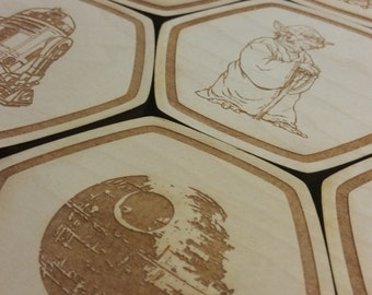 star wars coasters star wars party decorations star wars decor star wars gifts - Star Wars Decorations