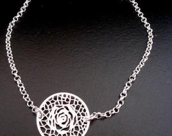 Bracelet in Silver 925/1000, camelia
