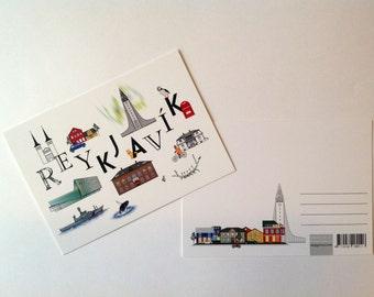 Reykjavik postcard, A6 (105 × 148mm / 4.13 × 5.83in)