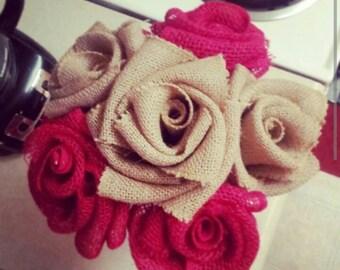 Burlap Roses