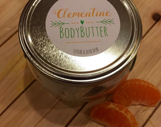 Homemade Whipped Organic Coconut Oil & Clementine Body Butter: Lake Life Candle Co. scrub.a.dub.dub. Made in WI