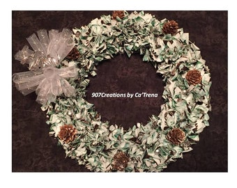 "10"" Fabric Wreath"